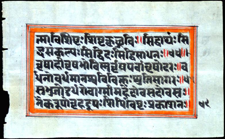 picture of a devanagari manuscript