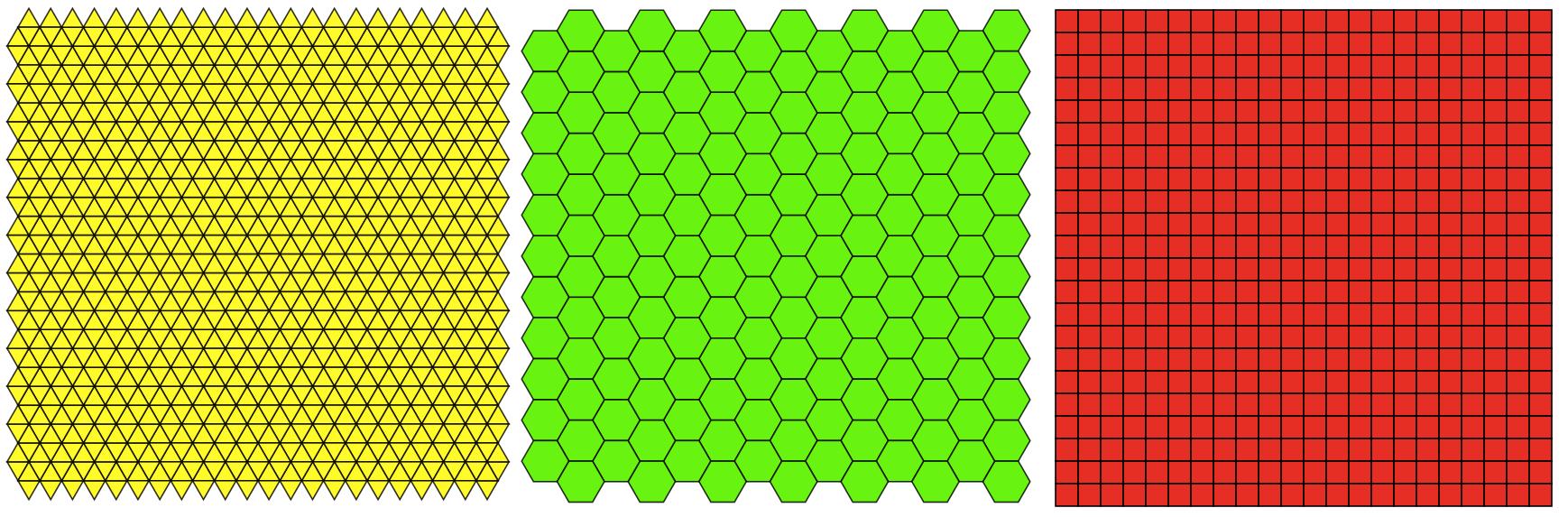 the three euclidean tilings